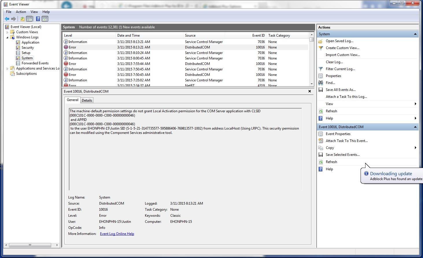 2125 (Permissions error updating ABP IE: The machine-default
